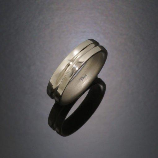 tilux_titan_blank_børstet_boerstet_herrering_damering_vielsesring_forlovelsesring_titanium_t2011
